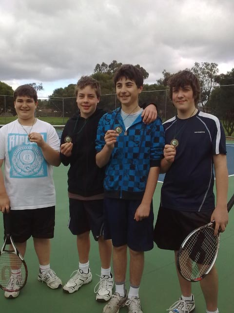 Boys Grade 12. Michael Visnjovski, Sean Scott, Daniel Gibson and Nicholas Powers(From left to the right).